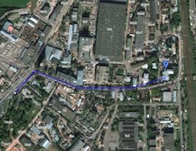 Карта проезда до Студии арабского танца ХАБИБИ (в ДК Нагорный)